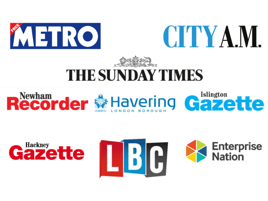 Aaron Henriques has been in the UK press on radio, local news and national news papers for his business and UK entrepreneurship
