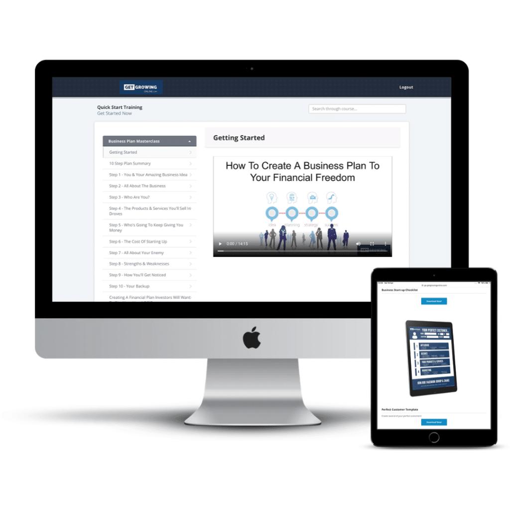 Business planning startup entrepreneur masterclass video training course