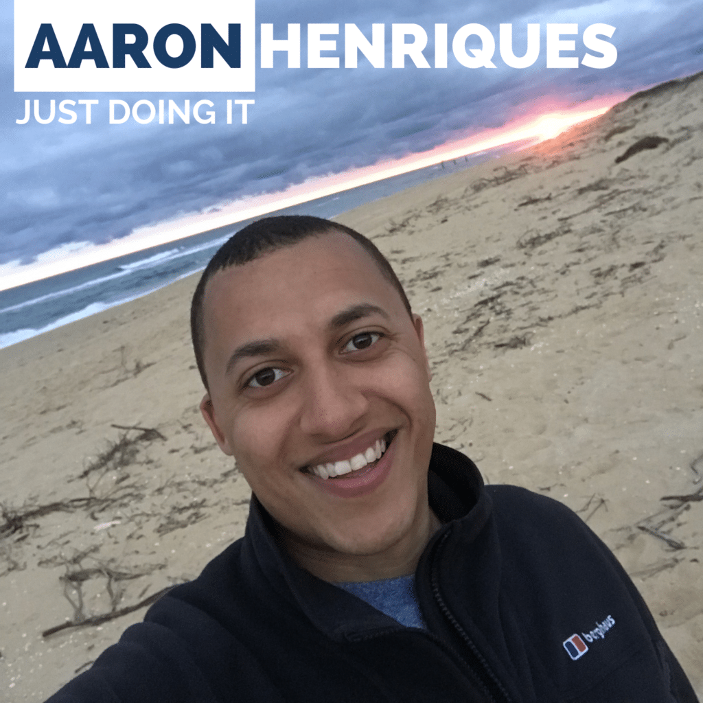 Just Doing It Podcast covering British business, entrepreneurship, british pilot podcast and aviation with Aaron Henriques